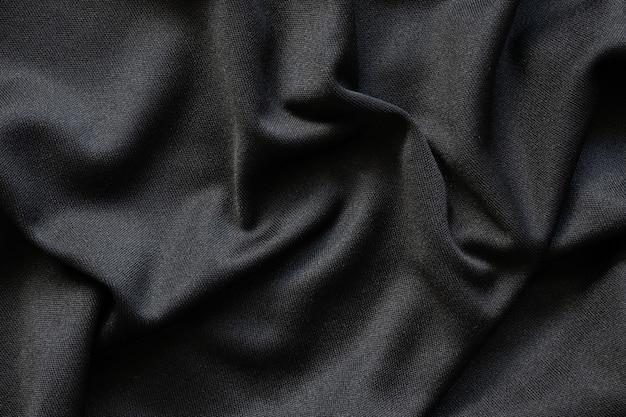 Zwarte stof luxe doek textuur patroon achtergrond