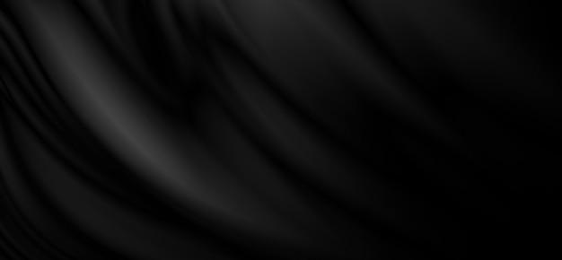 Zwarte stof textuur achtergrond 3d illustratie