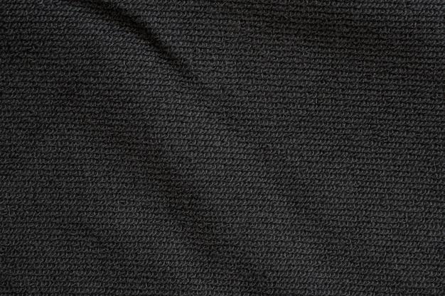 Zwarte stof textuur patroon achtergrond