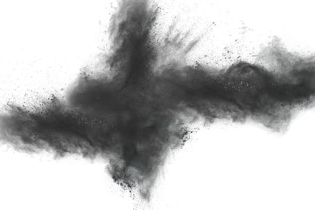 Zwarte stofplons op witte achtergrond.
