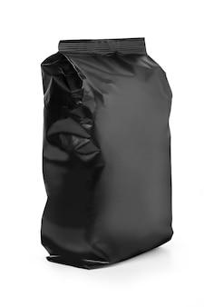 Zwarte tas geïsoleerd op een witte achtergrond met uitknippad