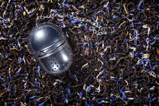 Zwarte thee achtergrond