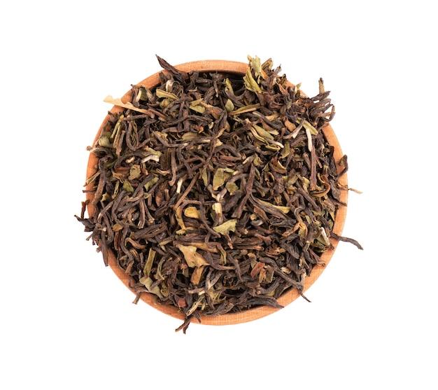 Zwarte thee darjeeling geïsoleerd