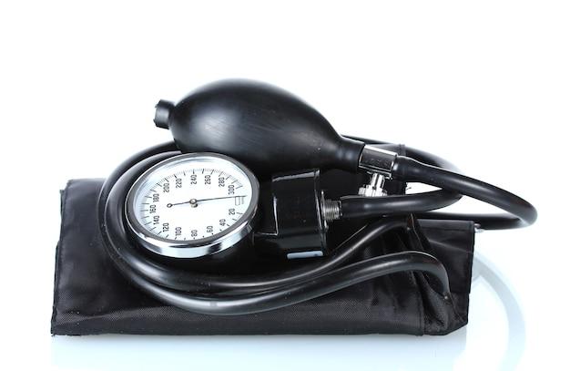 Zwarte tonometer geïsoleerd op wit