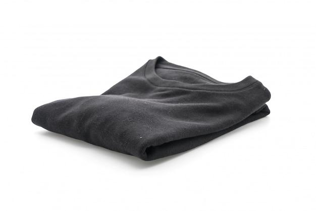 Zwarte trui vouw op wit