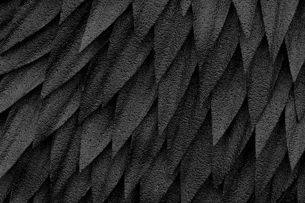 Zwarte verenclose-up, achtergrondtextuurabstractie.