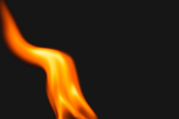 Zwarte vlamachtergrond, realistisch beeld van de vuurrand