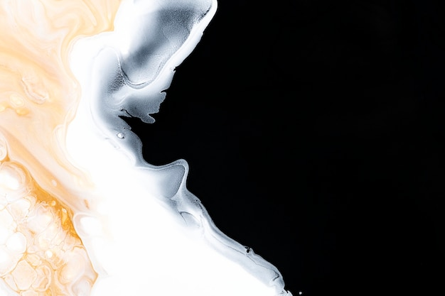 Zwarte vloeibare marmeren achtergrond abstracte vloeiende textuur experimentele kunst