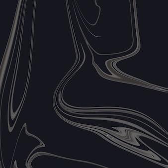 Zwarte vloeibare marmeren achtergrond handgemaakte acrylverf