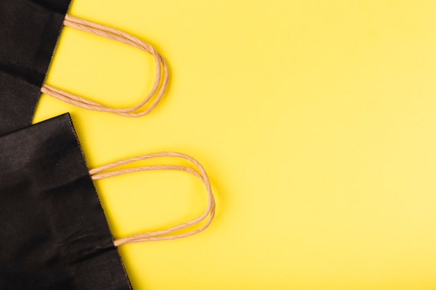 Zwarte vrijdag boodschappentassen met kopie-ruimte