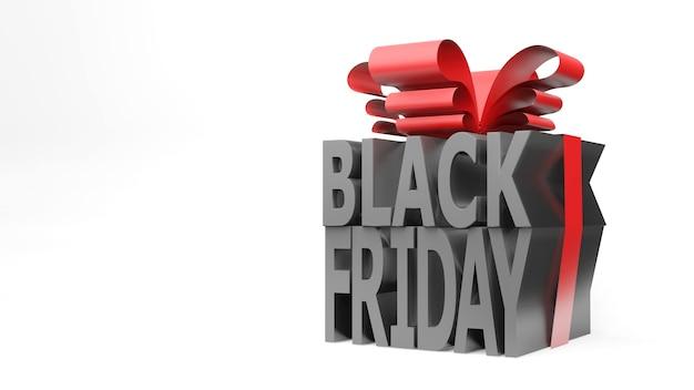 Zwarte vrijdag geschenkdoos