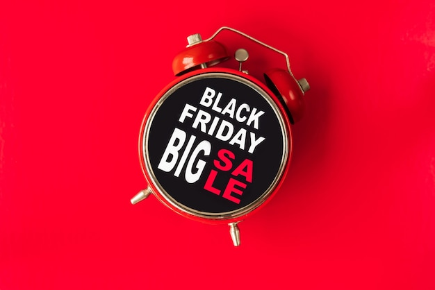 Zwarte vrijdag grote verkoopwekker
