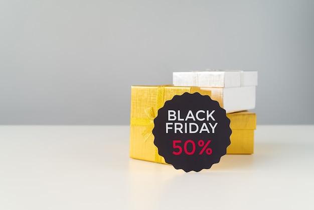 Zwarte vrijdag korting met geschenken