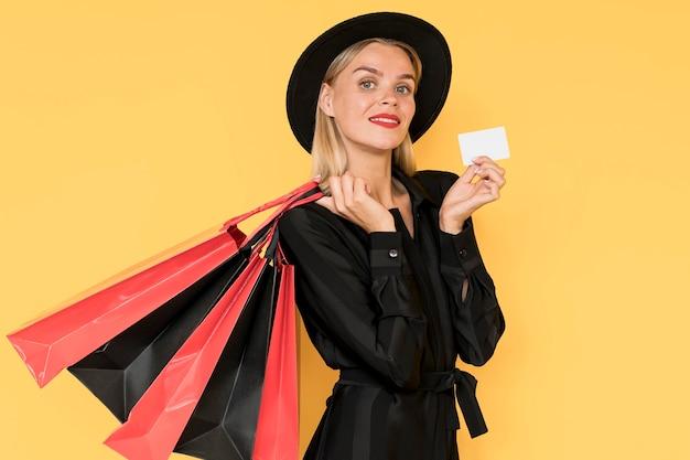 Zwarte vrijdag verkoop concept mode dame