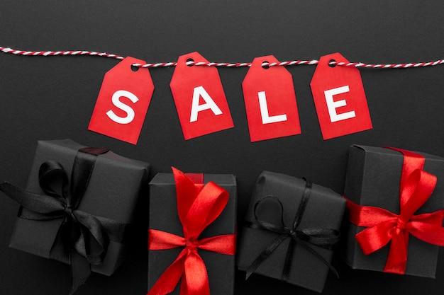Zwarte vrijdag verkoop elementen samenstelling