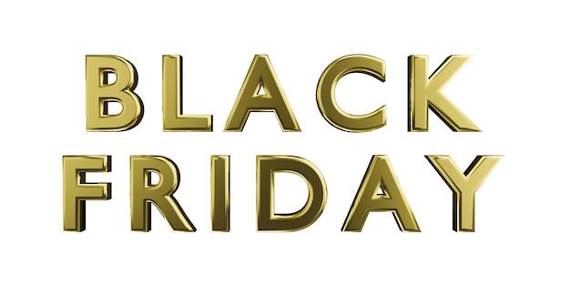 Zwarte vrijdag verkoop gouden letters op witte achtergrond isoleren