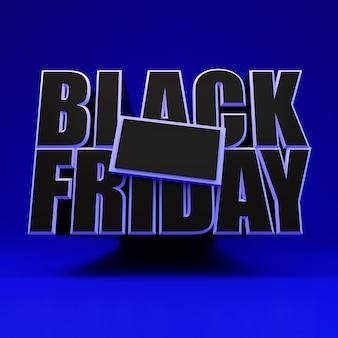 Zwarte vrijdag vierkant blauwe banner