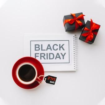 Zwarte vrijdagcampagne met geschenken