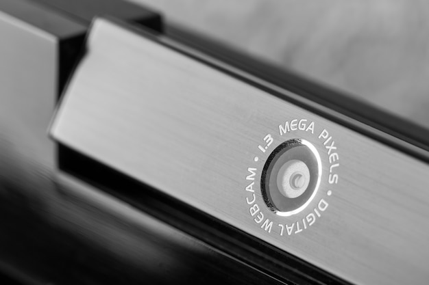 Zwarte webcam close-up
