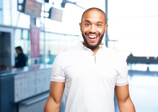 Zwarte zakenman verrast meningsuiting