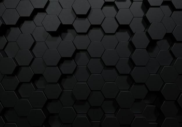 Zwarte zeshoekige honingraatvorm