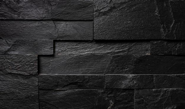 Zwartgeblakerde bakstenen muur, industriële textuur