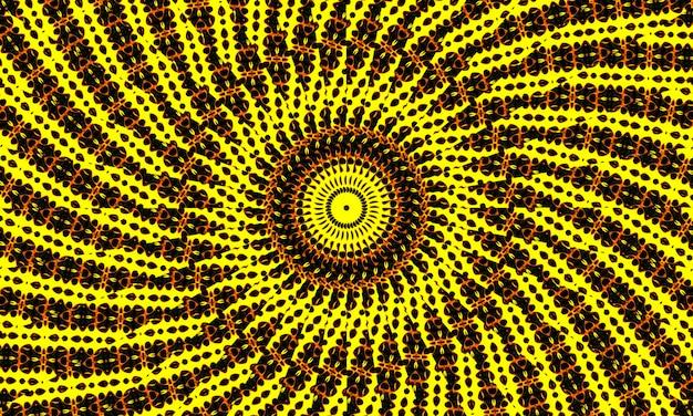 Zwavel caleidoscoop. naadloze achtergrond van natuurlijk zwavelmineraal. hel vorm.