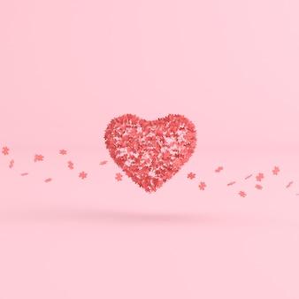 Zwevende puzzel in hartvorm