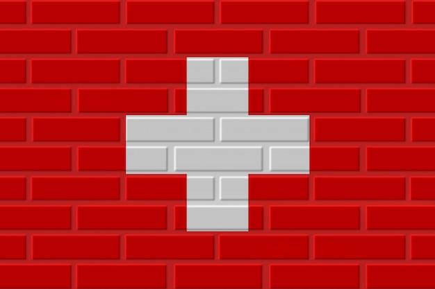 Zwitserland baksteen vlag illustratie