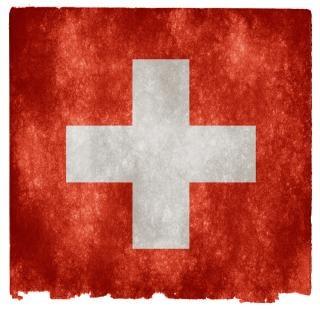 Zwitserland grunge vlag