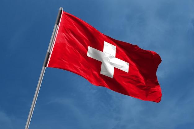 Zwitserland vlag zwaaien