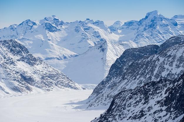 Zwitserse berg, jungfrau, zwitserland, skiresort