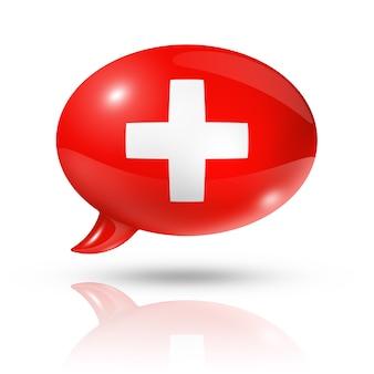 Zwitserse vlag tekstballon