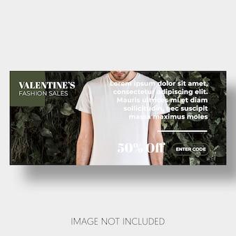 Banner sjabloon verkoop Valentijnsdag