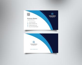 Blauw bedrijfs visitekaartje