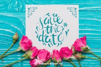 Bloemen sparen het datumconcept