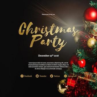 Creatieve kerst partij voorbladsjabloon