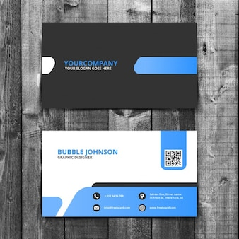 Eenvoudige corporate business card template