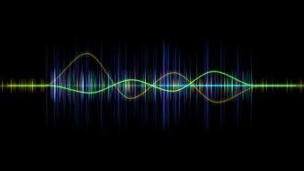 Frequentie audio muziek equalizer golfvorm,