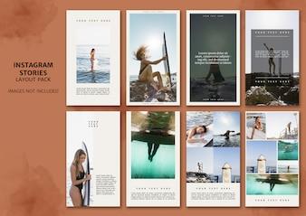 Instagramverhalen lay-outpakket