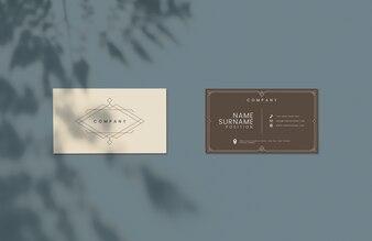 Klassiek design visitekaartje mockup