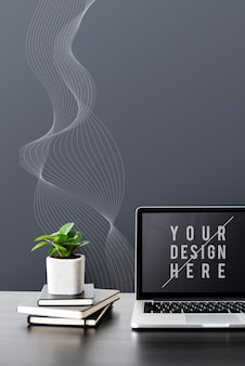 Laptop digitale apparaat scherm mockup