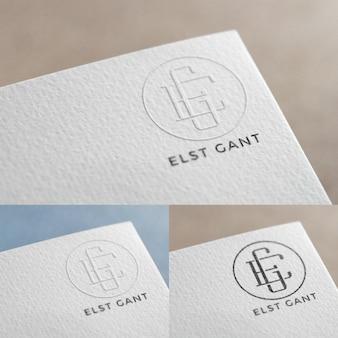 Logo in papieren mock up