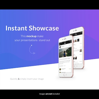 Mobiele telefoon scherm mock up ontwerp