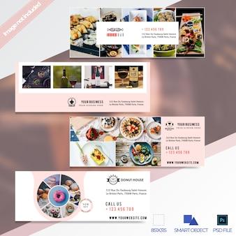 Super verkoop restaurant facebook tijdlijn cover banner