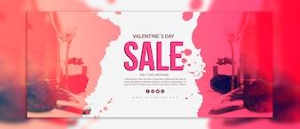 Valentijnsdag verkoop banners mockup