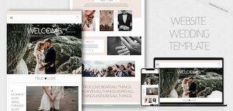 Website bruiloftsjabloon