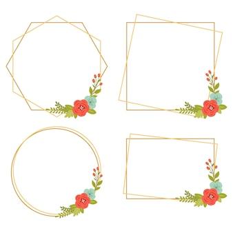 015-vintage bruiloft geometrische bloemenframes collecties