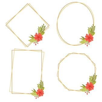 016-vintage wedding geometrische bloemenframes collecties