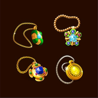 03 spellen trofeeën medailles ketting iconen